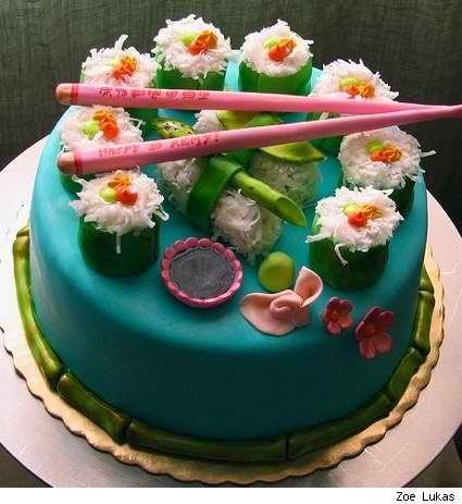 11 Photos of Sushi Themed Cakes