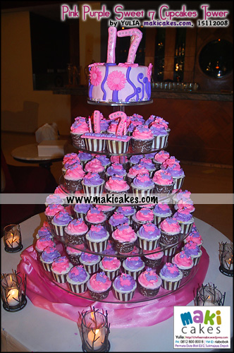 Sweet 17 Birthday Cakes Tower