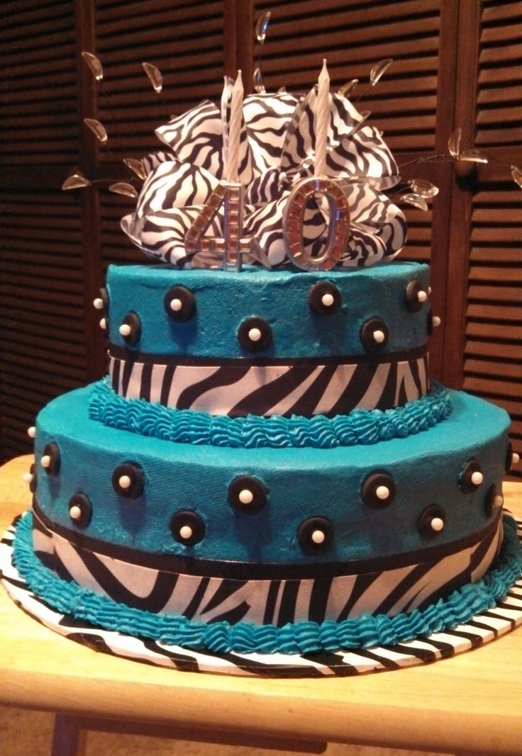 11 Photos of Party Cakes Zebra And Teal