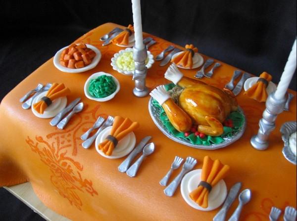 Thanksgiving Dinner Cake