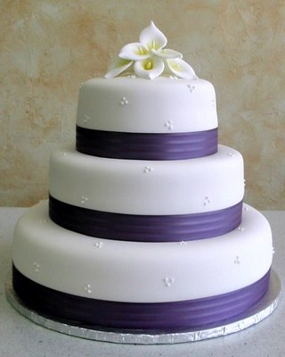 Three Tier Fondant Wedding Cake