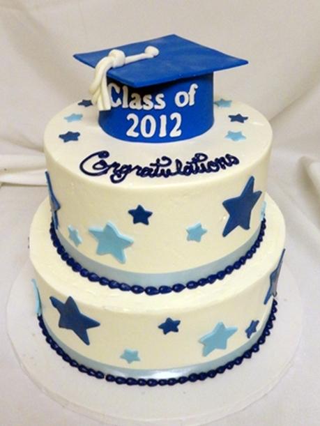 Tiered Graduation Cake