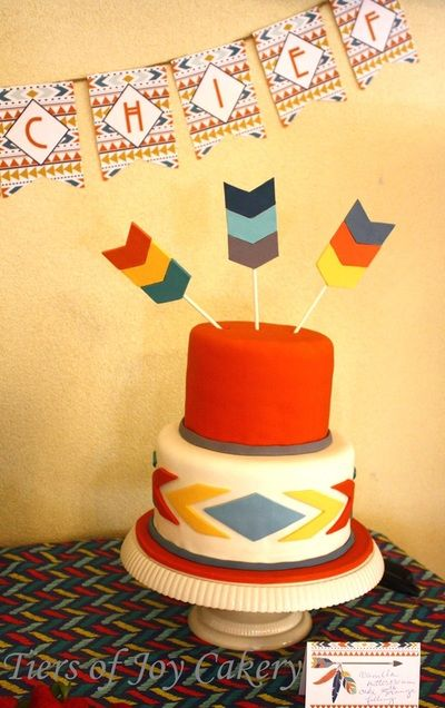 Tribal Baby Shower Cake Decorations