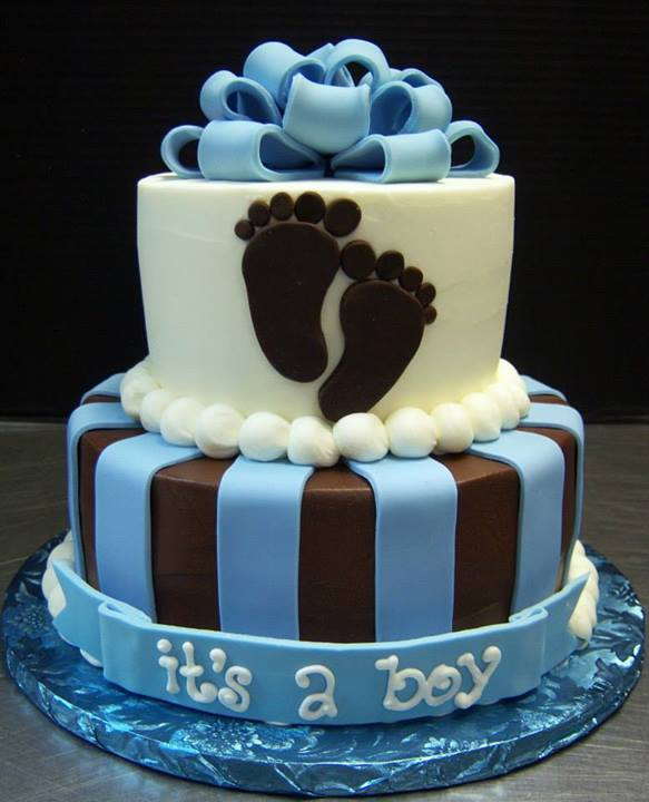 Two Tier Baby Shower Cake