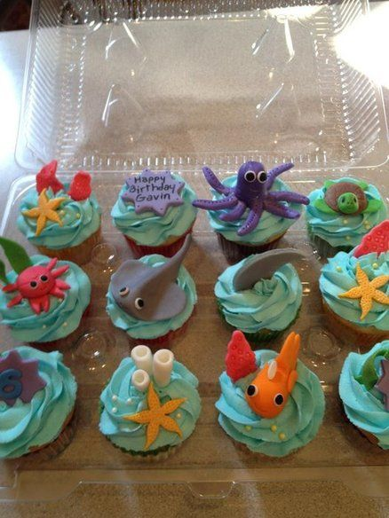 Under the Sea Cupcake Cake Idea