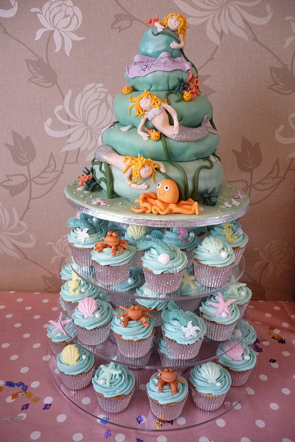 Under the Sea Mermaid Cake and Cupcake Ideas