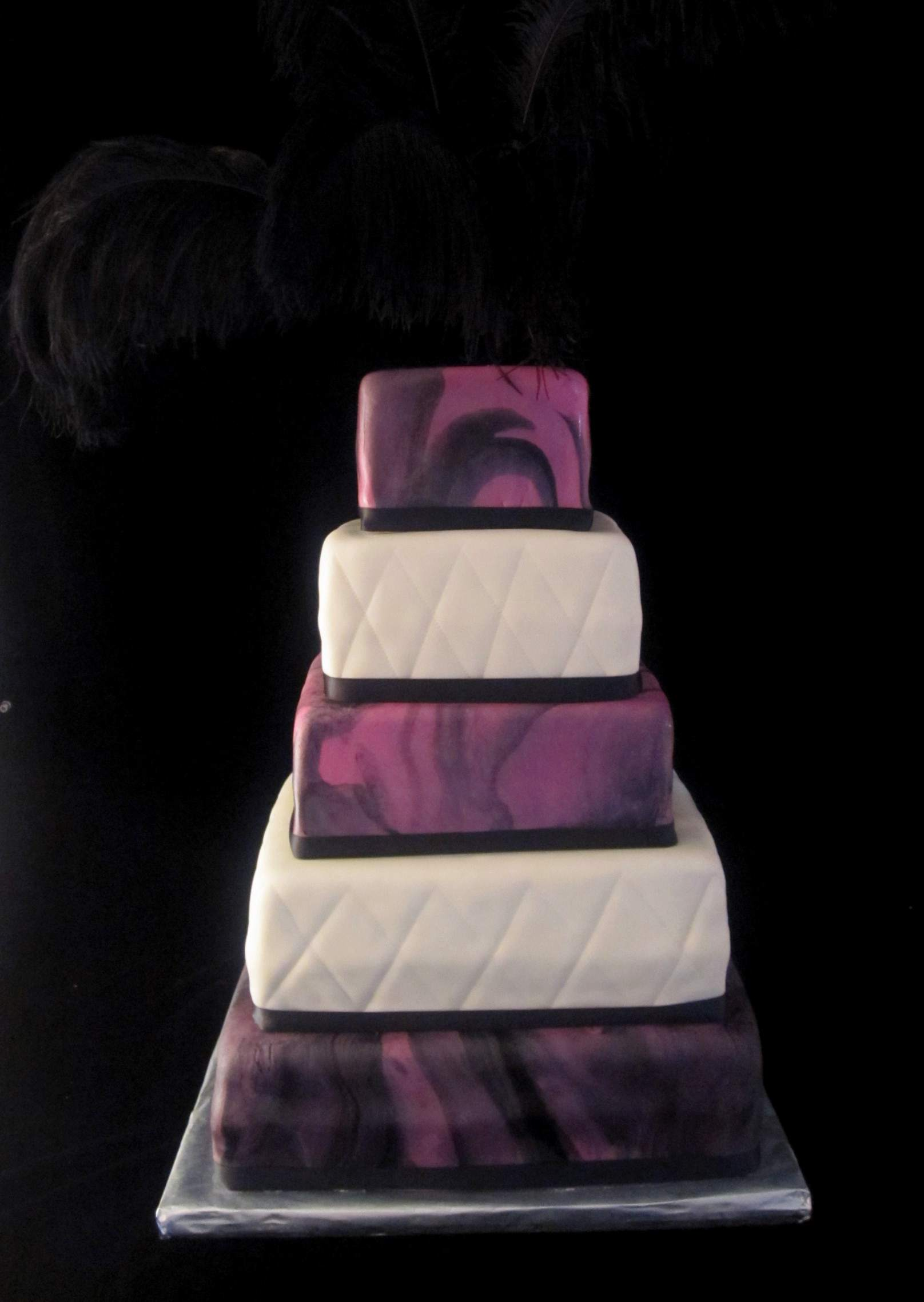 Unique Wedding Cake Pink and Black