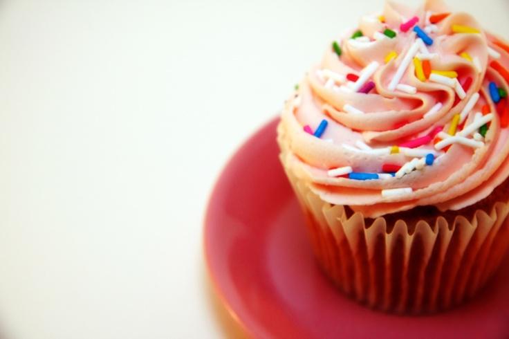 Vanilla Cake with Rainbow Sprinkles