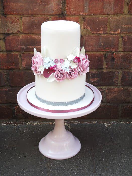 Vintage 2 Tier Wedding Cake