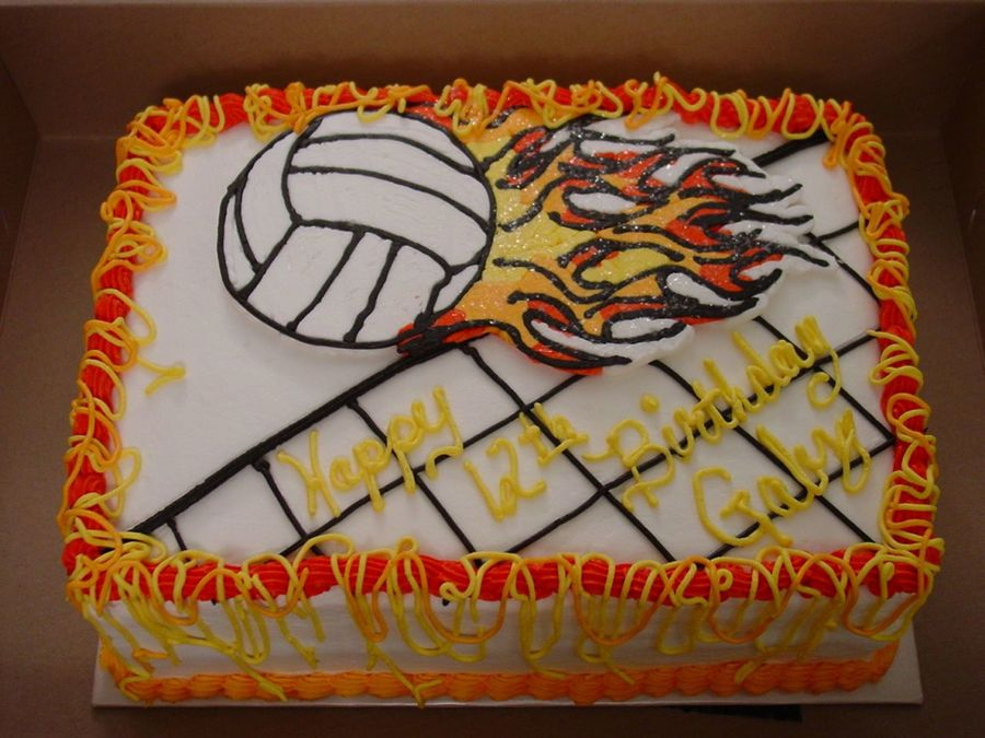 Fantastic 7 Happy Birthday Volleyball Cakes Photo Volleyball Birthday Cake Personalised Birthday Cards Arneslily Jamesorg