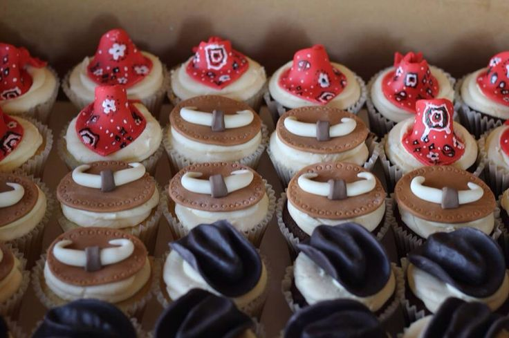 Western Themed Cupcakes