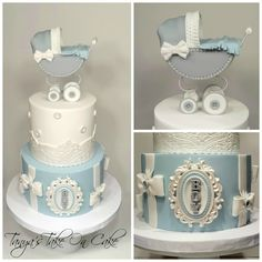 White Baby Shower Cakes