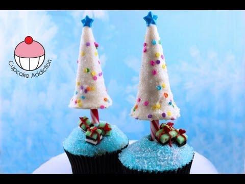 YouTube Christmas Tree Cupcakes