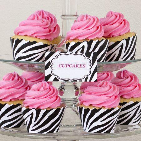 Zebra Print Cupcakes