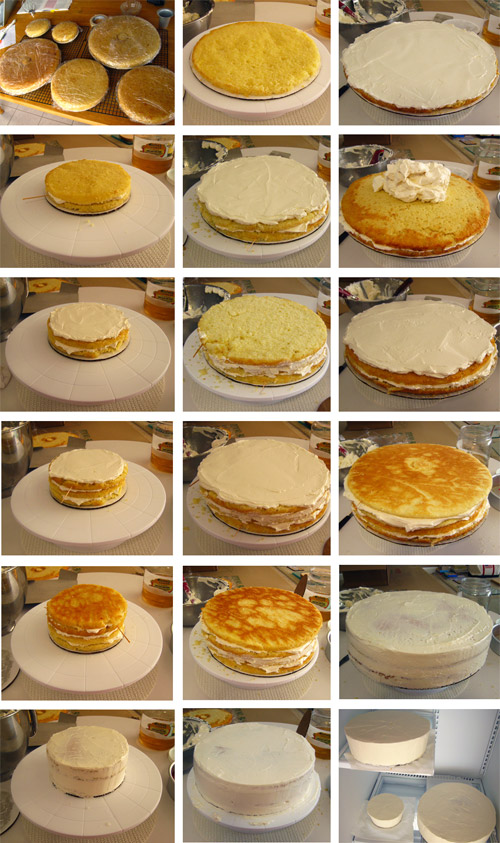 Assembly for Small Wedding Cake Layers
