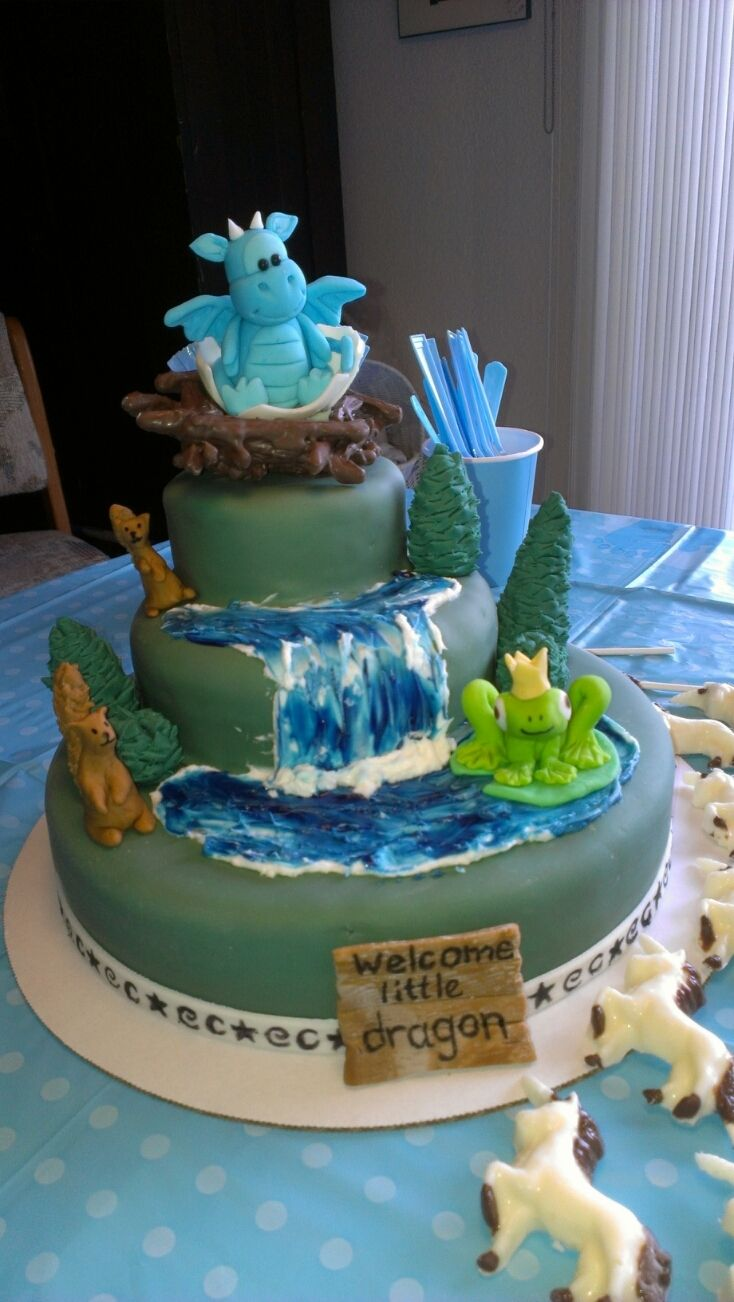 10 Photos of Fantasy Baby Shower Cakes