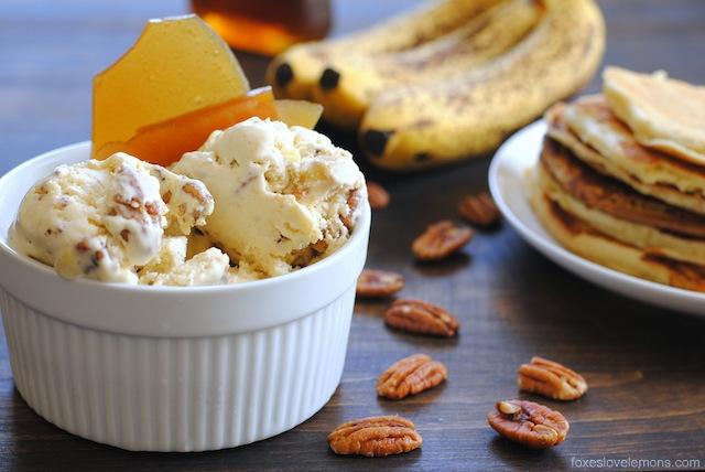 Banana Pancakes with Ice Cream
