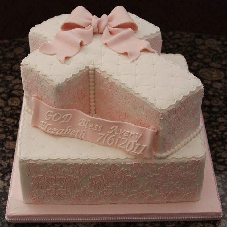 Baptism Cross Cake