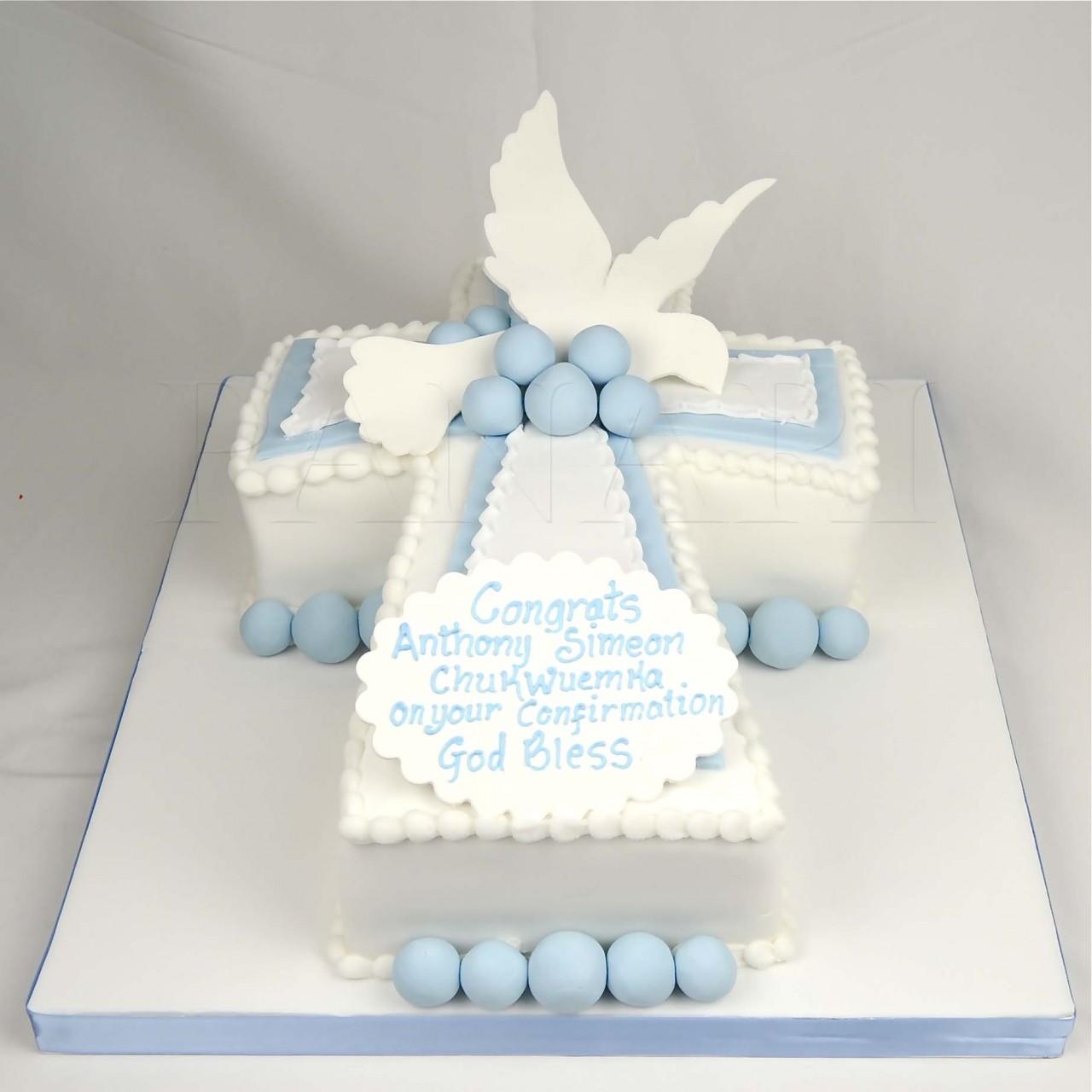 Baptism Cross Cakes Ideas