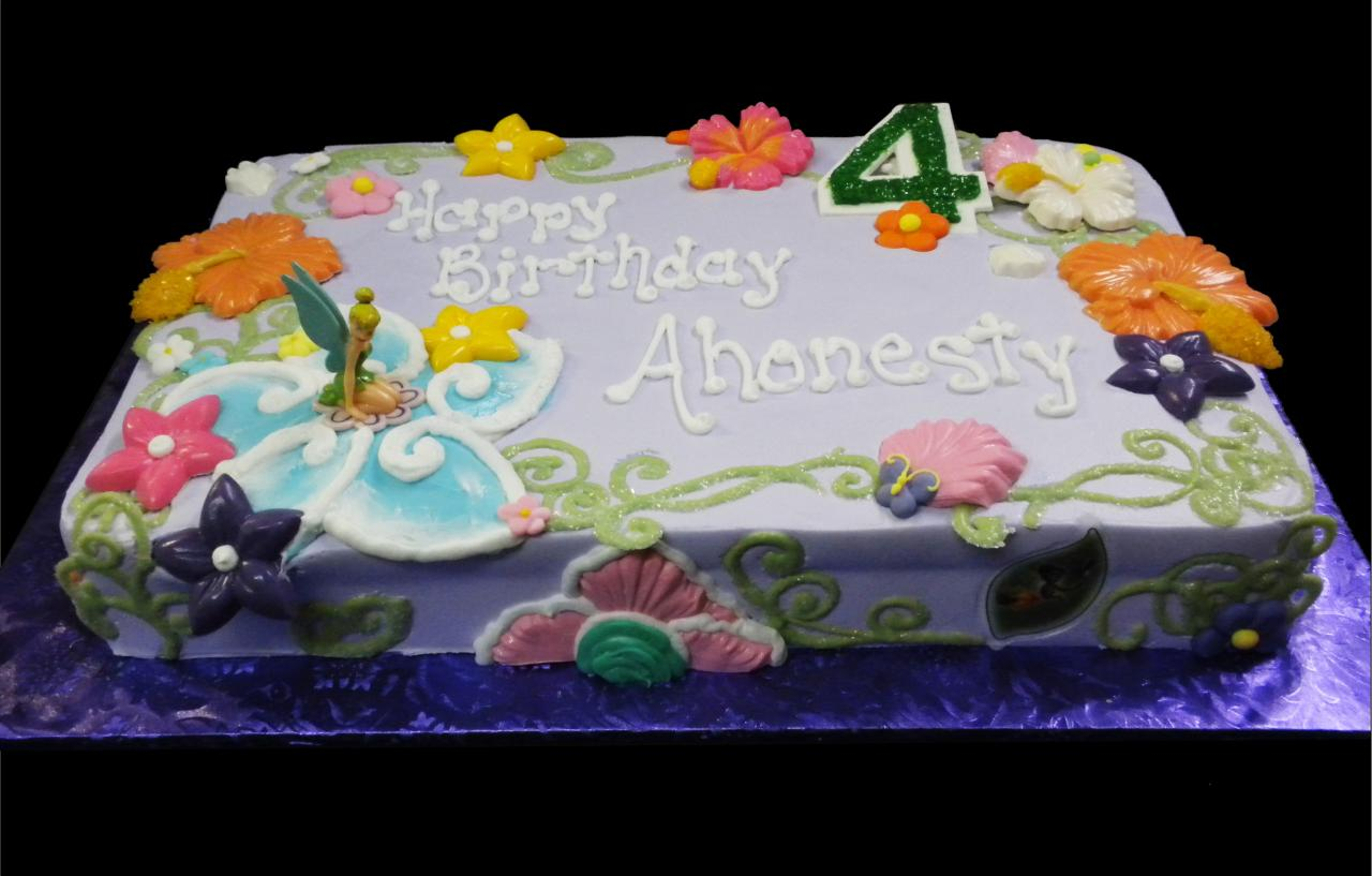 Birthday Sheet Cake with Flowers