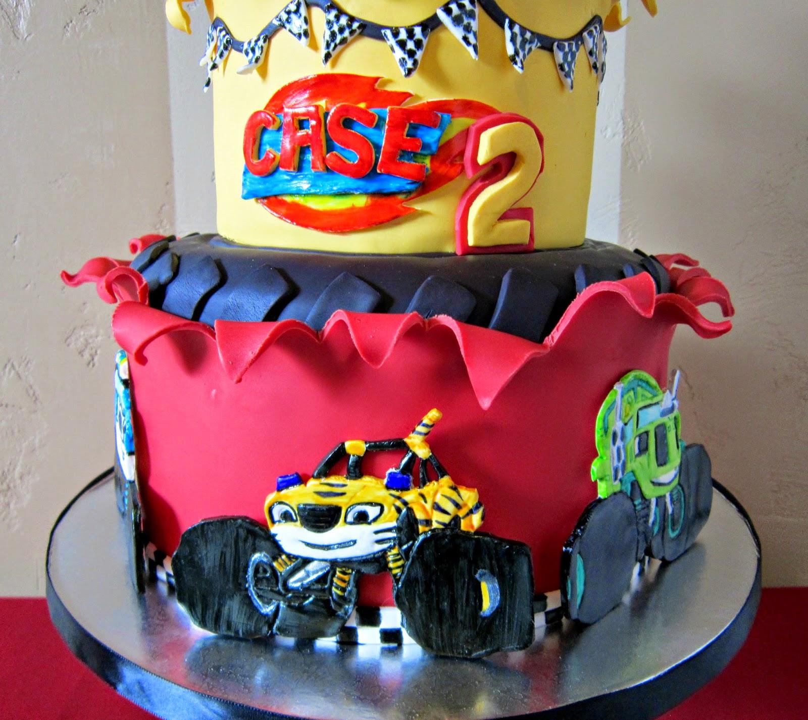 Blaze and Monster Machine Birthday Cake