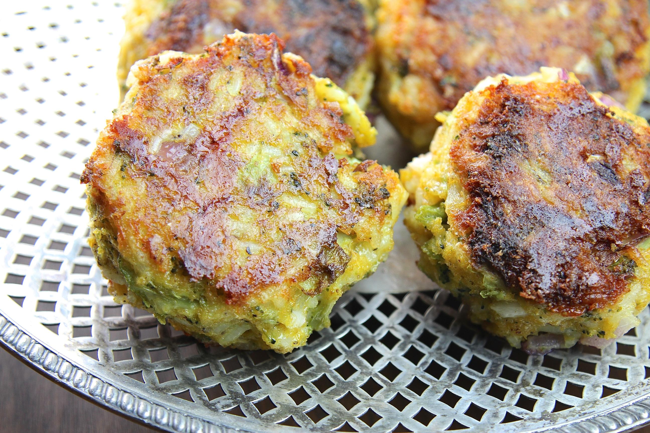 Broccoli Cheese Cakes