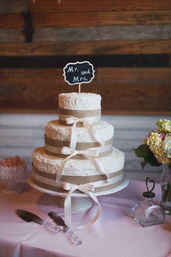 Burlap Wedding Cake Ideas
