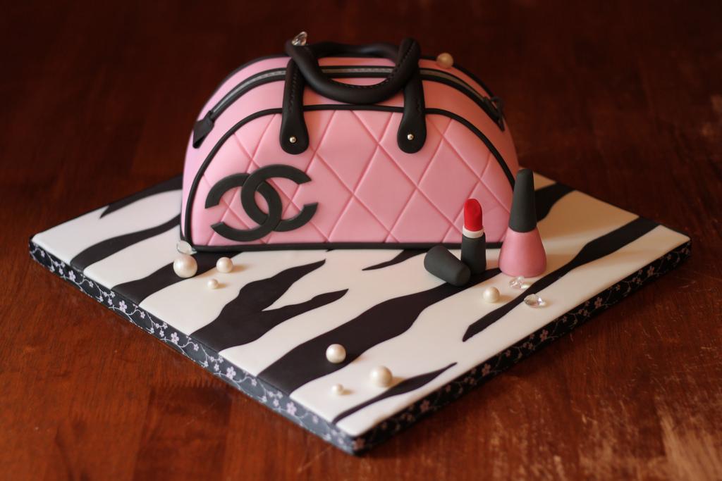 Chanel Lipstick Cake