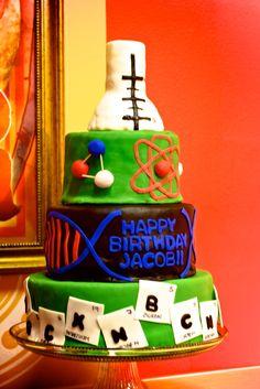 Chemistry Themed Birthday Cake