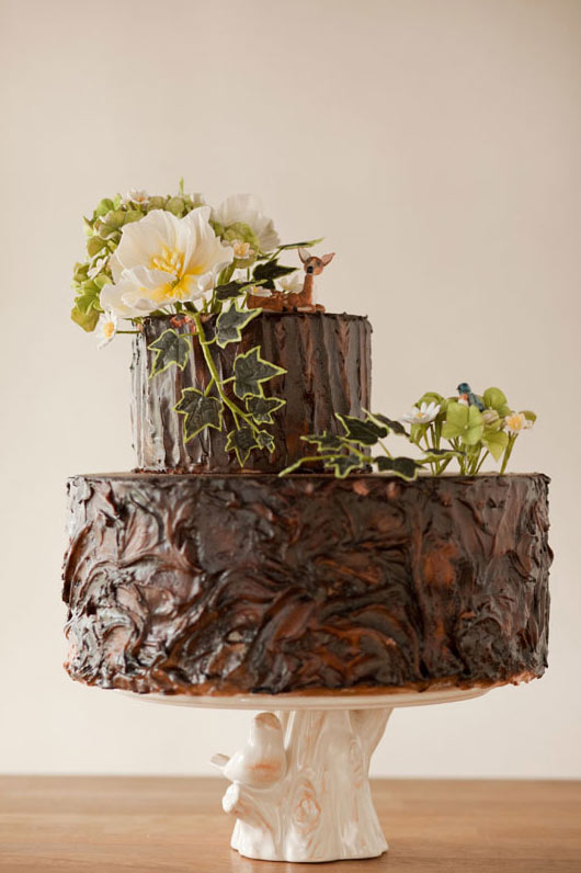 Chocolate Rustic Groom Cake