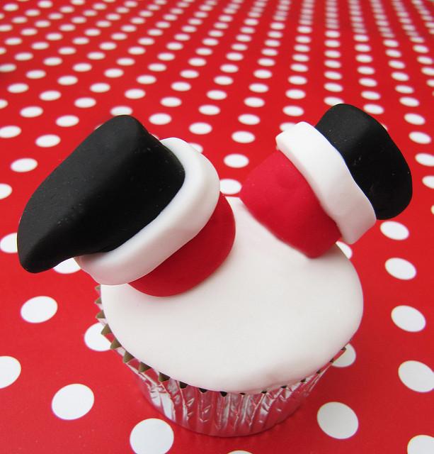 Christmas Cupcakes Santa Upside Down