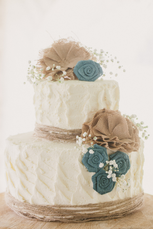 7 Photos of Turquoise And Burlap Wedding Square Cakes