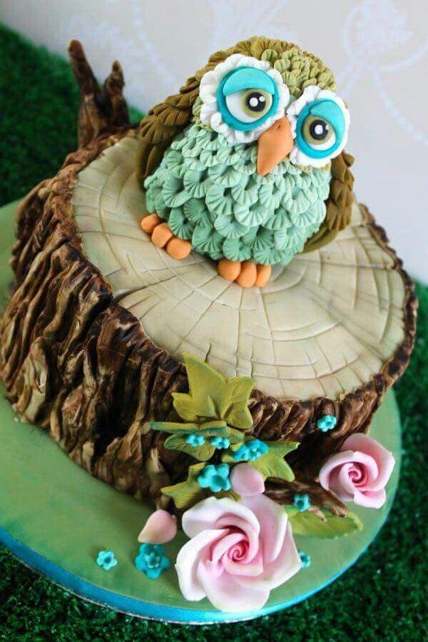 Cute Owl Cake Tutorial