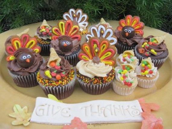 Cute Thanksgiving Cupcakes