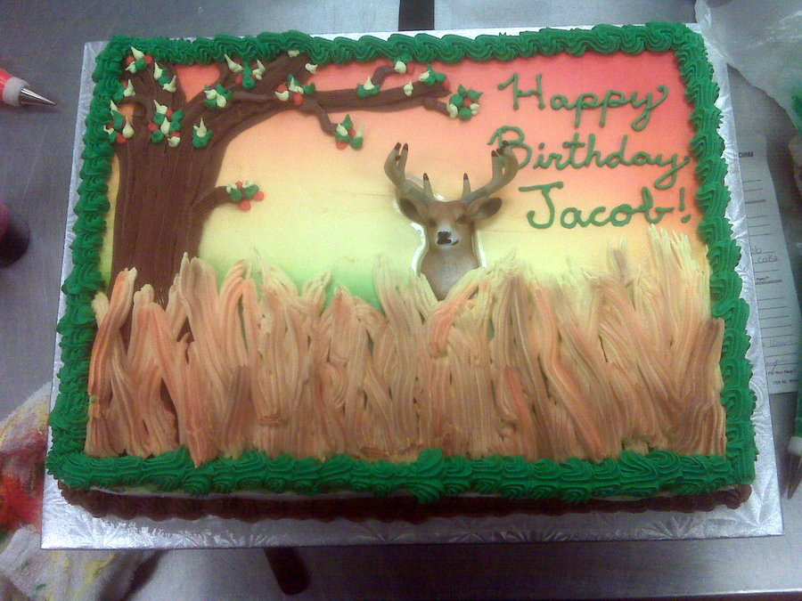 8 Photos of Deer Hunting Sheet Cakes