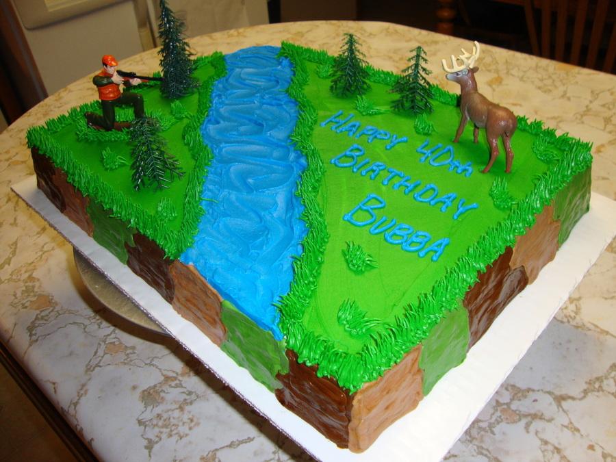 Deer Hunter Birthday Cake