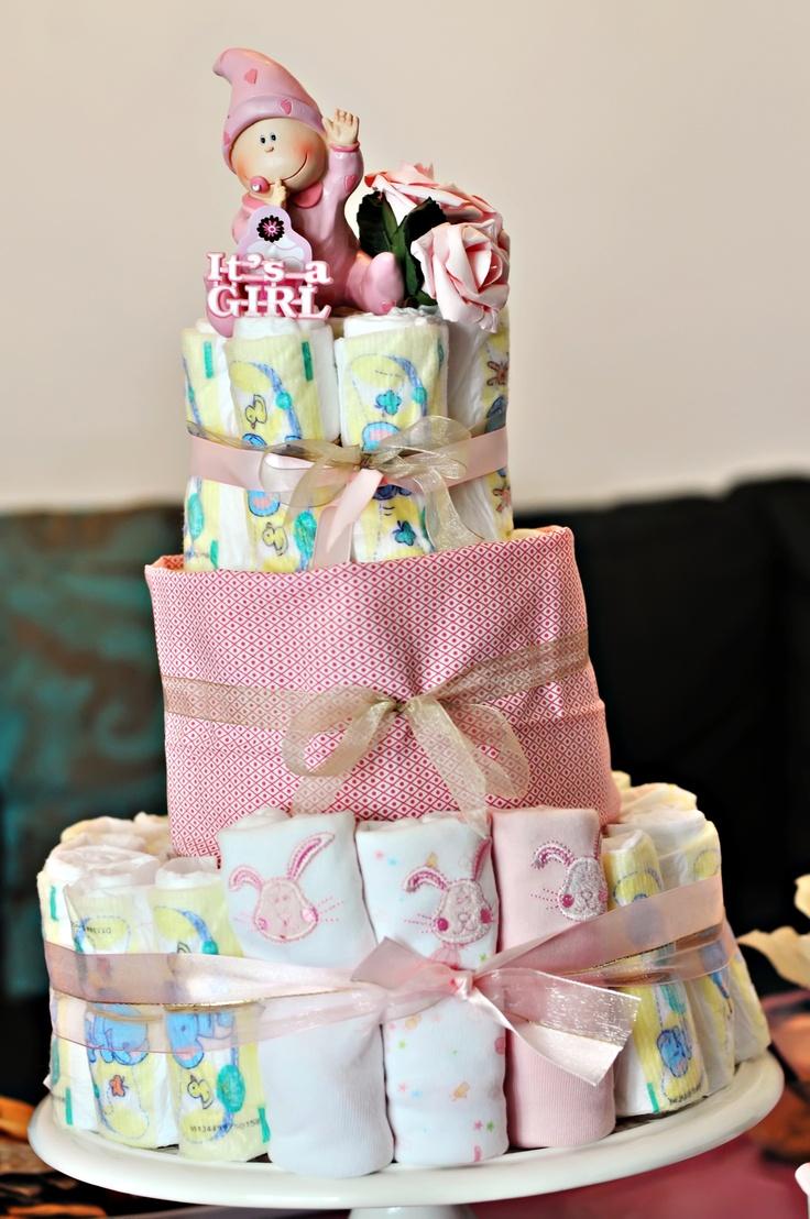 DIY Baby Diaper Cake
