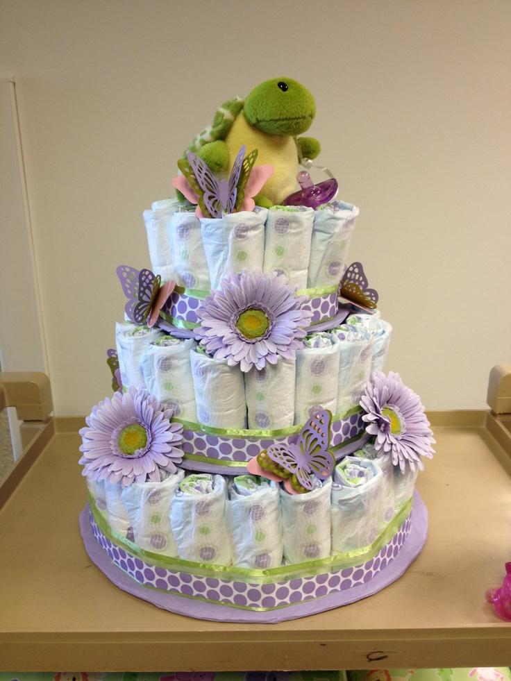 DIY Baby Shower Diaper Cake