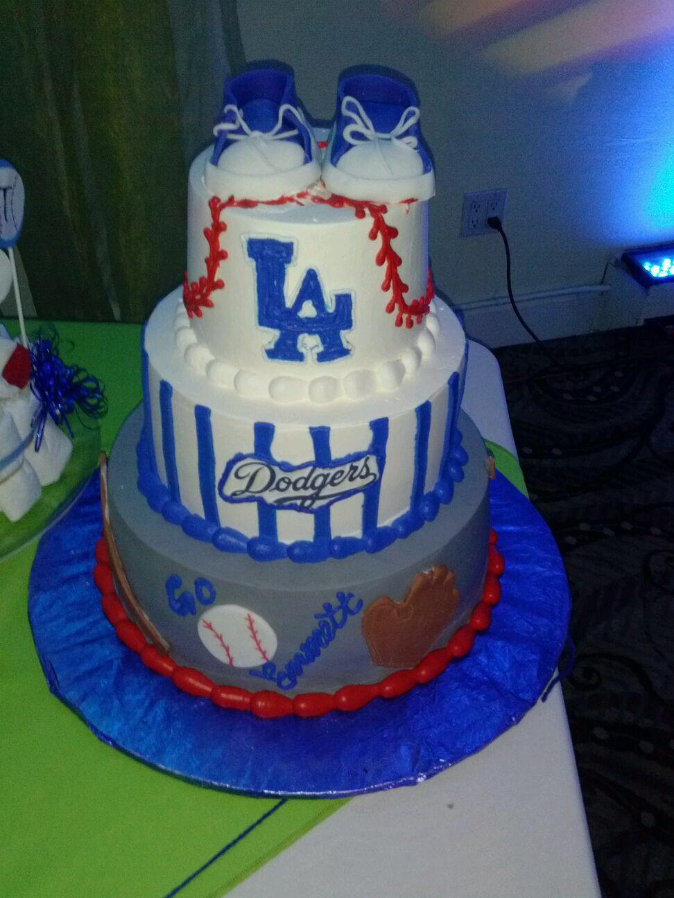 Dodgers Baby Shower Cake