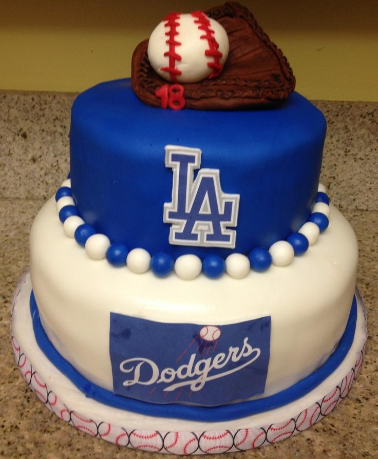 Dodgers Birthday Cake