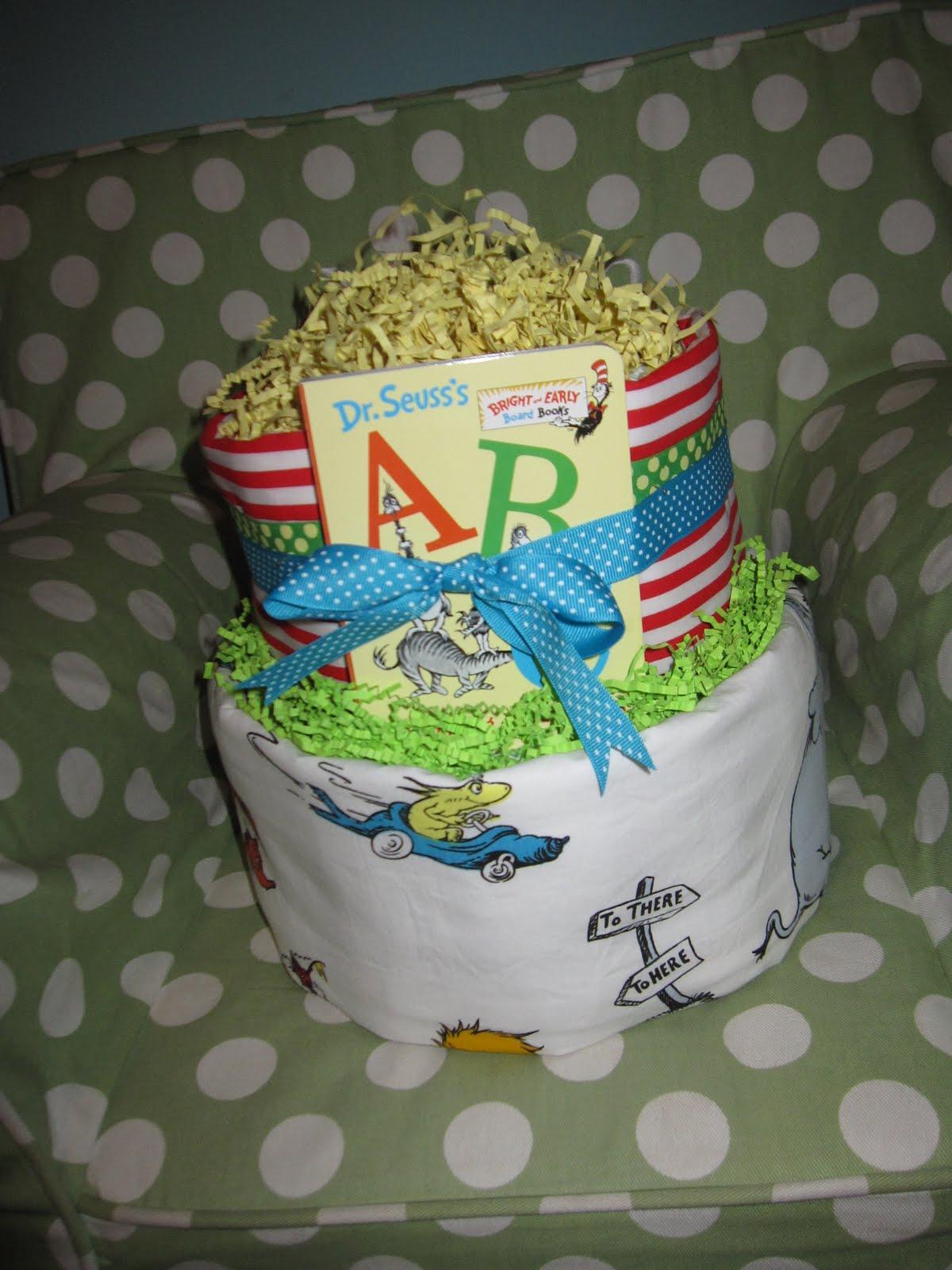 Dr. Seuss Baby Diaper Cake