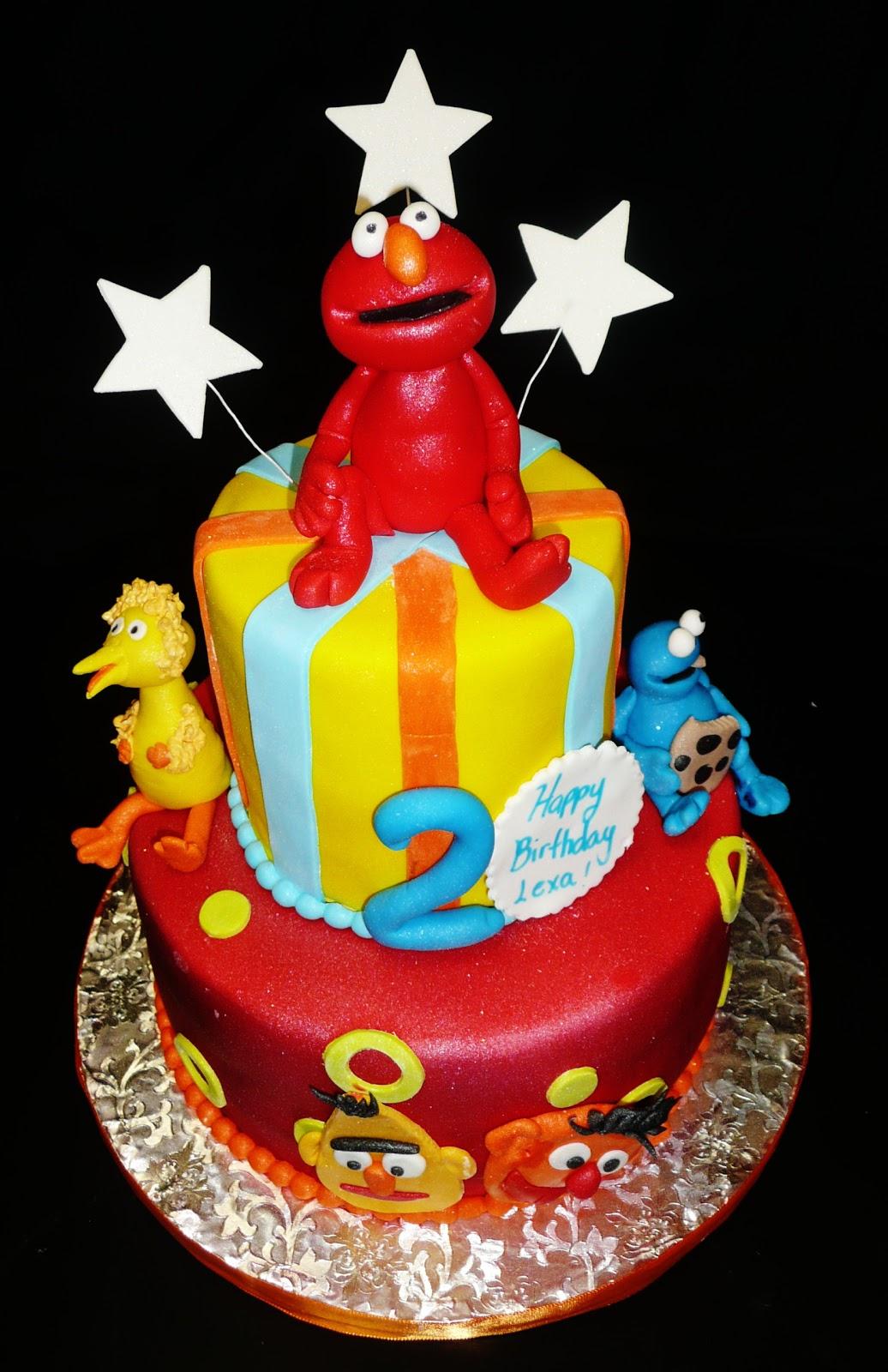 11 Photos of Elmo Themed Cakes