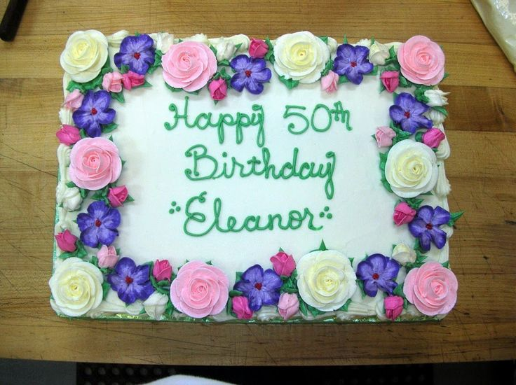 Flower Sheet Cake Decorating