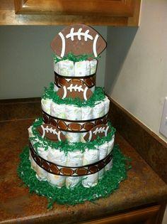 Football Diaper Cake Idea