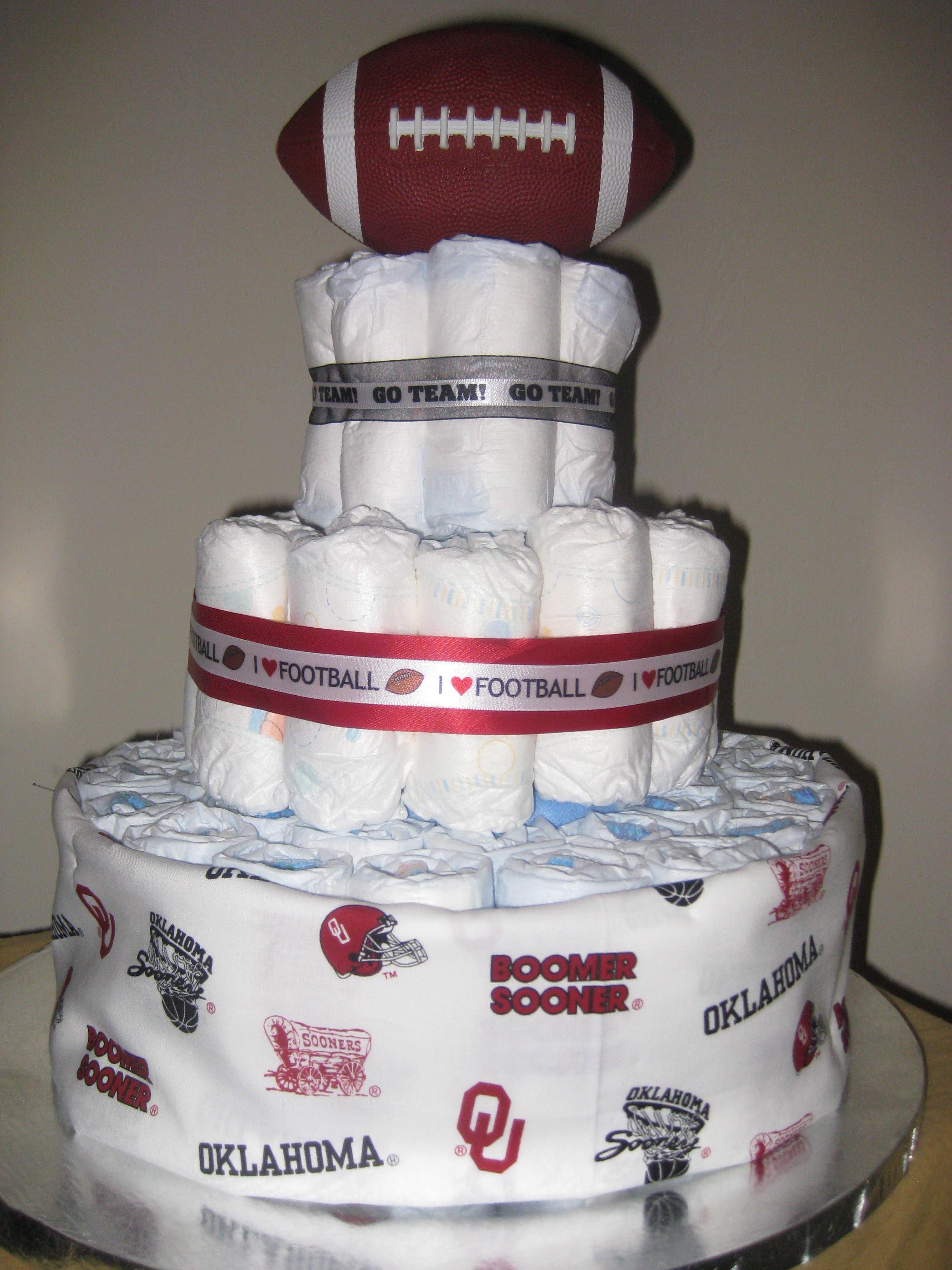 Football Theme Diaper Cake