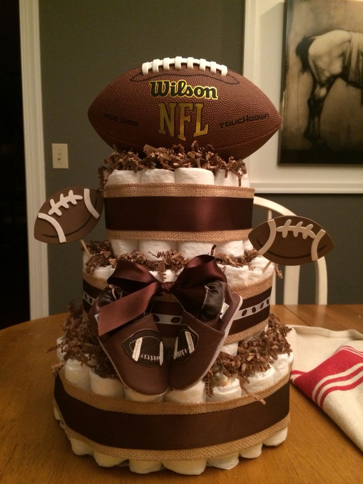 11 Photos of Football Themed Diaper Cakes