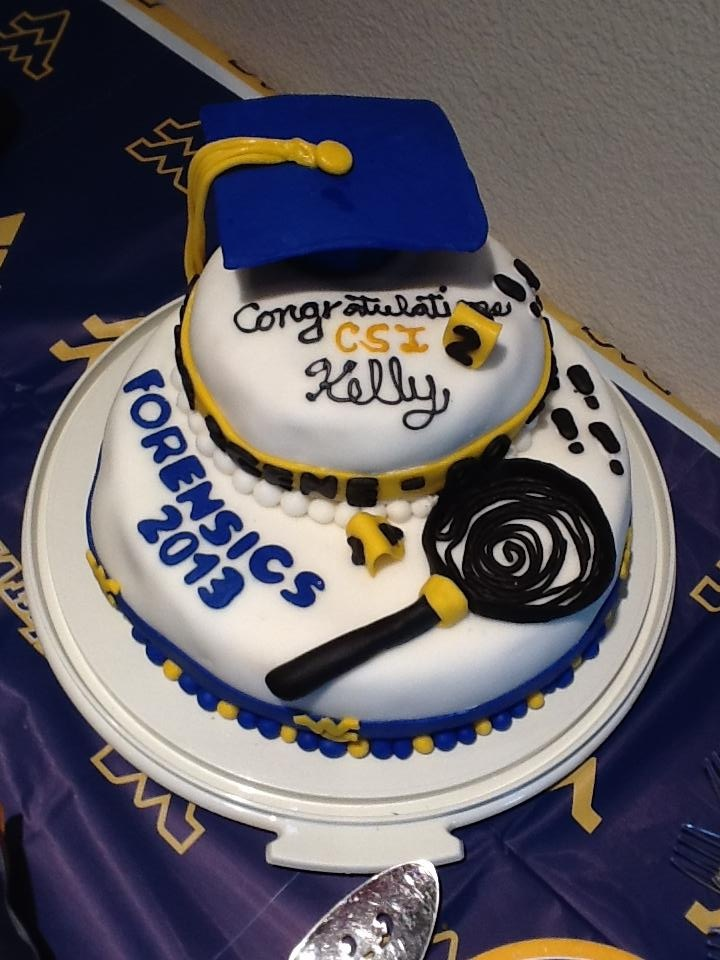 Forensic Science Graduation Cake