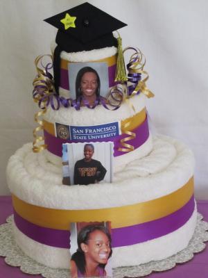 Graduation Towel Cake Ideas