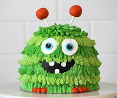 Green Monster Smash Cake Because