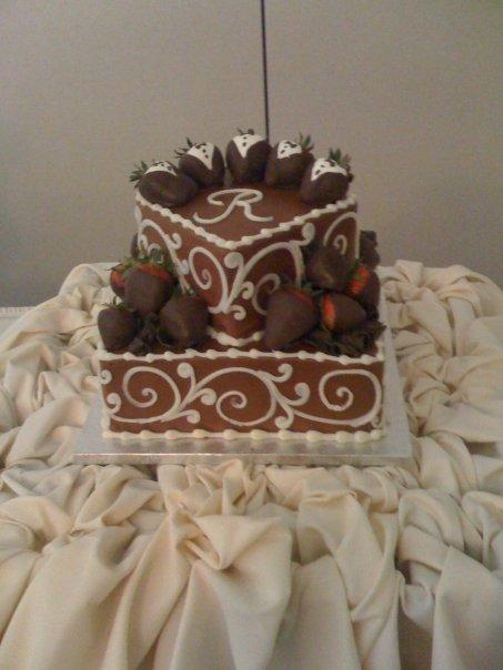 Grooms Chocolate Wedding Cake